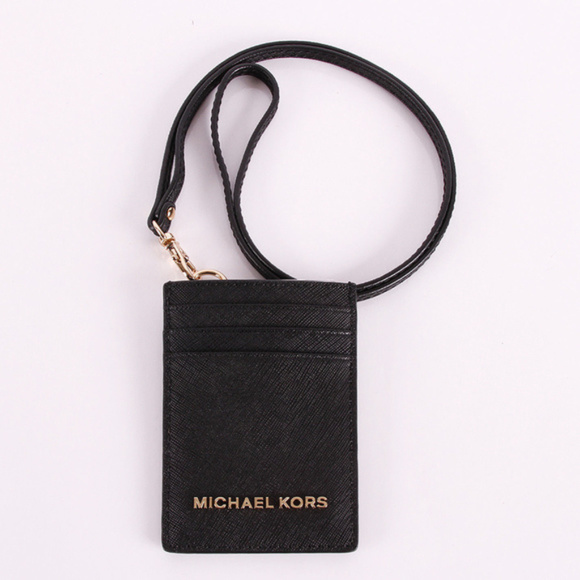 82fd6316f1c624 Michael Kors Accessories | Jet Set Travel Lanyard Id Card Holder ...